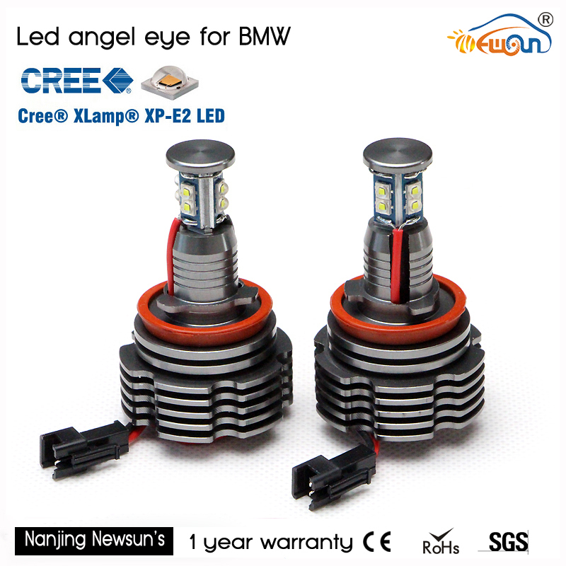 LED angel eyes bulb H8 40W Cree chip for BMW E87 E82 E92 E93 E70 E71 E60 E61 E90 E63,Error Free Canbus led marker H8 40W 2 sets all in one canbus 80w 8000lm cree chip led h4 hi
