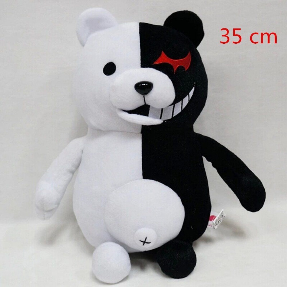35cm Dangan Ronpa Super Danganronpa 2 Monokuma Black&White Bear Plush Doll Toy Free Shipping