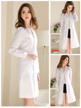 White coat long-sleeved doctor clothes female summer short-sleeved lab coat chemical beauty salon teacher nurse clothes overalls(China)