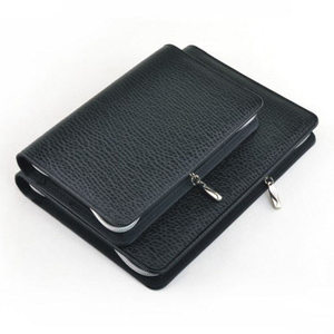 Image 5 - Logo Customized A5 & A6 Business Zip Bag Faux Leathe Planner Leather Notebook With Calculator Or Memo Pad For You To Choose