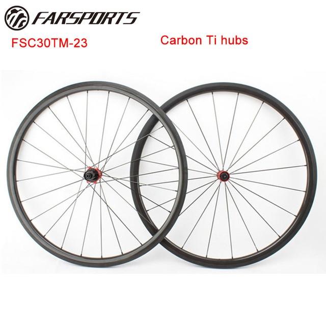 565c9783004 Farsports 700C Carbon Ti hubs bike wheelset