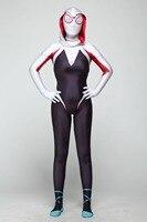 3D Wome kids girls Gwen Stacy Spider man Cosplay Costume Spiderman Zentai Superhero Bodysuit Suit Jumpsuits
