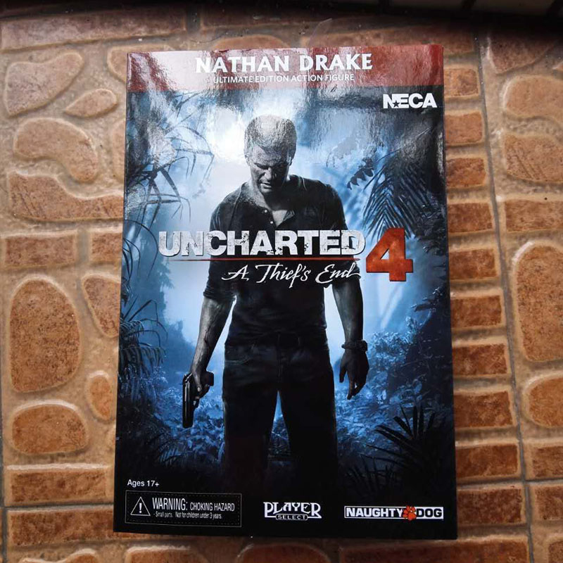 17CM Uncharted 4 Sir Francis Drake Circle Anime Game For Collector's Ultimate Edition Nathan Drake PVC Action Figure Toys