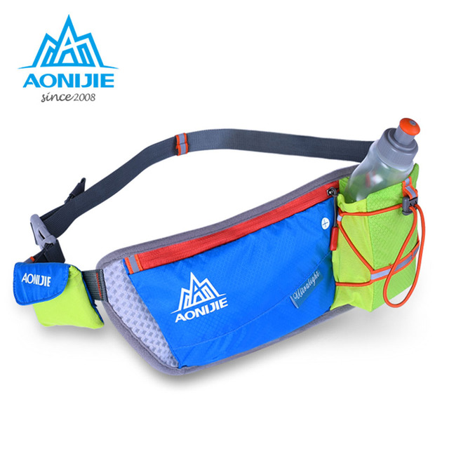 AONIJIE Women Men Running Waist Pack Lightweight Outdoor Sports Racing Hiking Gym Fitness Hydration Belt Water Bottle Hip Bag