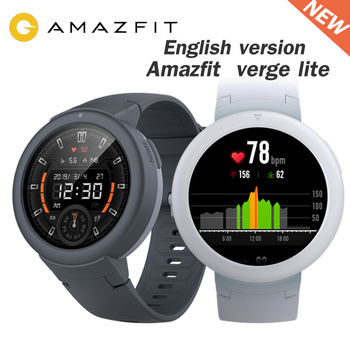 Amazfit Verge Lite Smartwatch English Version 20 Days Battery Life Huami verge2 GPS Sport watches Heart Rate Monitor IP68