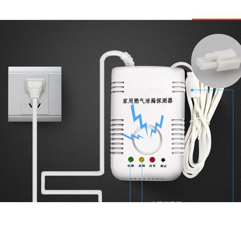 Gas Detector Sensor 85dB Alarm High Sensitive Liquefied Natural Coal Gas Detector Home Security Alarm System For