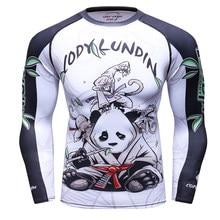 2018 3D impresión Gyms compresión camiseta hombres elástico Skinny  Bodybuilding Casual hombres camisetas Crossfit secado rápido c569bd9184dae