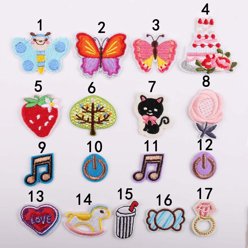 VIPOINT embroidery note buttlefly trees patches cats strawberry patches badges applique patches for clothing YX 251 in Patches from Home Garden