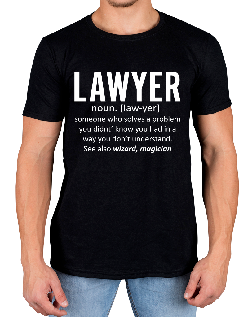 Lawyer T-shirt Define Law Novelty Funny Office  Casual Short Sleeve T Shirt Novelty Unisex More Size And Colors