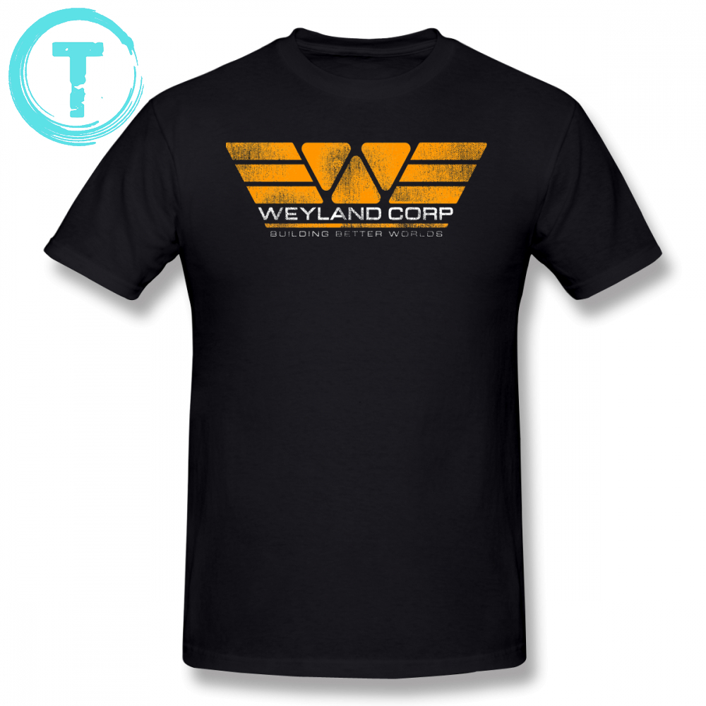 Alien T Shirt WEYLAND CORP Building Better Worlds T-Shirt 4xl Casual Tee Shirt Short Sleeves Graphic Cute Men Tshirt