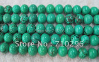 Green Turquoise Beads 12 Mm Turquoise Semi Gemstone Loose Beads15 5 String Free Shipping