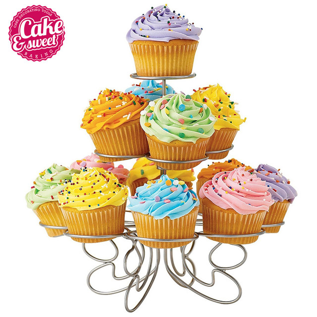 3 Tier 13-Cup Metal Christmas Tree Cupcake Stand Wedding Birthday  Party Cake Stand Baking Decorating Tools