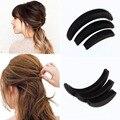 3 шт. разных размеров пушистый полумесяца клип удары вставить корень волоса увеличился устройство хорошие волосы повысить инструменты для девочки