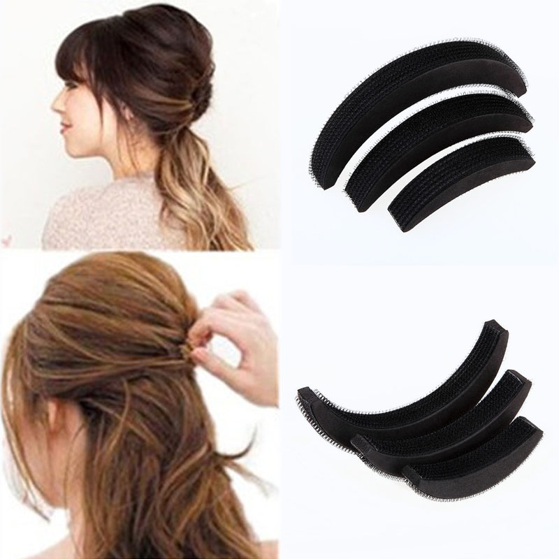 3 Pcs Different Sizes Fluffy Crescent Clip Bangs Paste Root Hair Increased Device Good Hair Heighten Tools For Girl