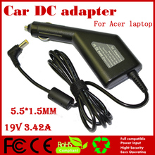 JIGU High quality DC Power Car Adapter Charger 19V 3.42A For Acer Lapto
