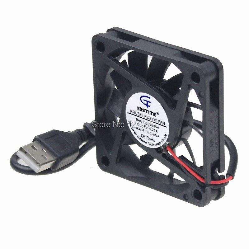 2PCS LOT Gdstime DC 5V USB 60mm 60*60x10mm 6010S Cooler Motor Brushless Cooling Fan сверло jr 2 5 95 2 10 1lot 60 2 5 95mm
