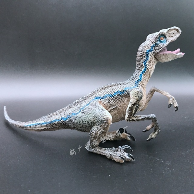 NEW hot 22cmx5cmx9cm Blue Velociraptor Jurassic World