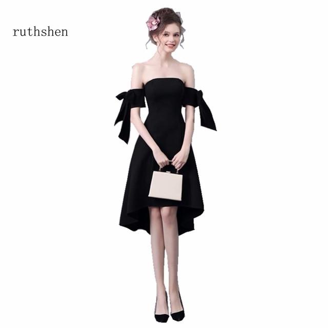 Ruthshen Short Cocktail Party Dresses Cheap Black Formal Knee Length
