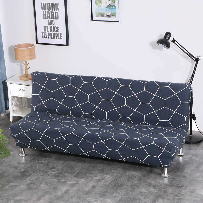 Lellen Universal size Armless Sofa Bed Cover Folding seat slipcovers stretch covers Couch Protector Elastic bench Futon XD05