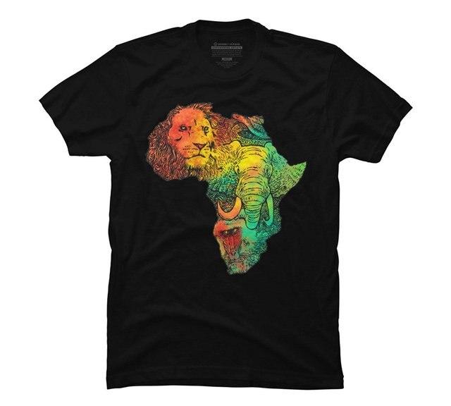 Мужская футболка Африка II мужская Графический Футболка