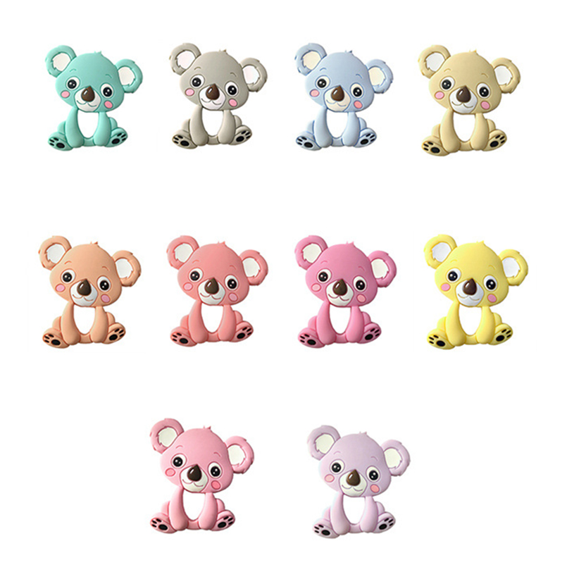 Baby Toys Koala Animal Gloves Food Grade Silicone Teethers Baby Birth For Children For Newborn