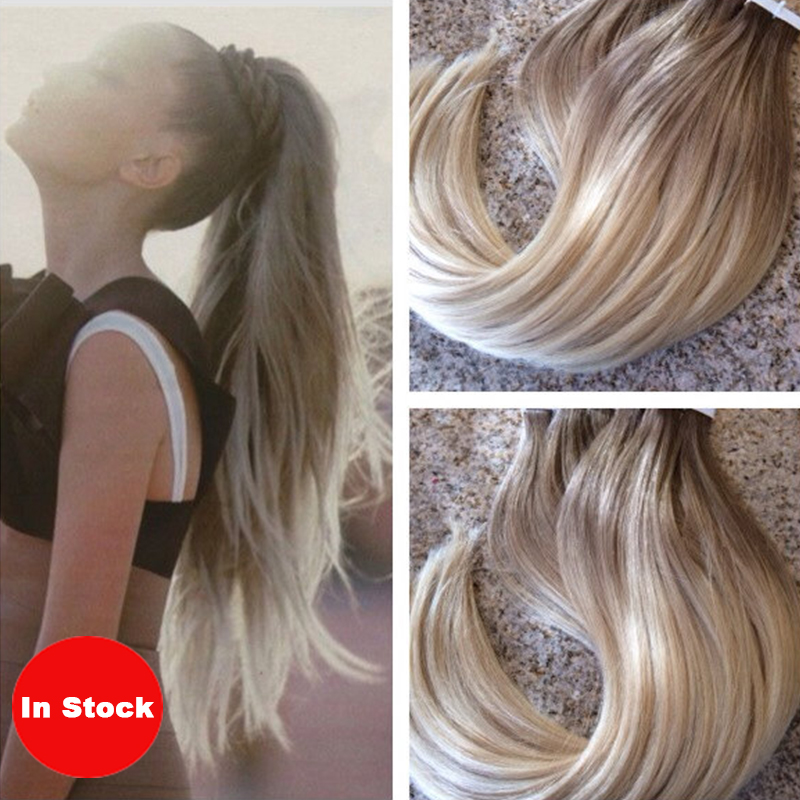 buy tape in hair 40pcs 100g 7a blonde ombre skin weft remy human hair ombre. Black Bedroom Furniture Sets. Home Design Ideas