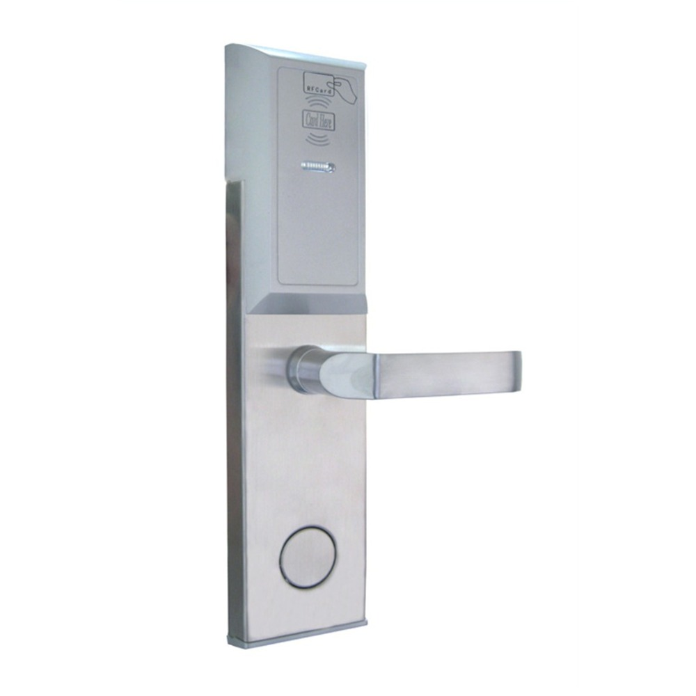 RFID T5577 hotel lock,stainless steel Material,gold,silver color, a test T5577 card ,sn:CA-8006 professional manufacture hotel lock intelligent rfid card hotel lock for hotel stainless steel et6001rf