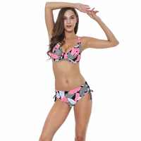 Polovi Pena Sexy Plus Size Swimwear Mulheres Push Up Swimsuit Tamanho Grande Listrado Meados Cintura Biquínis De Las Mujeres 2019 beachwear