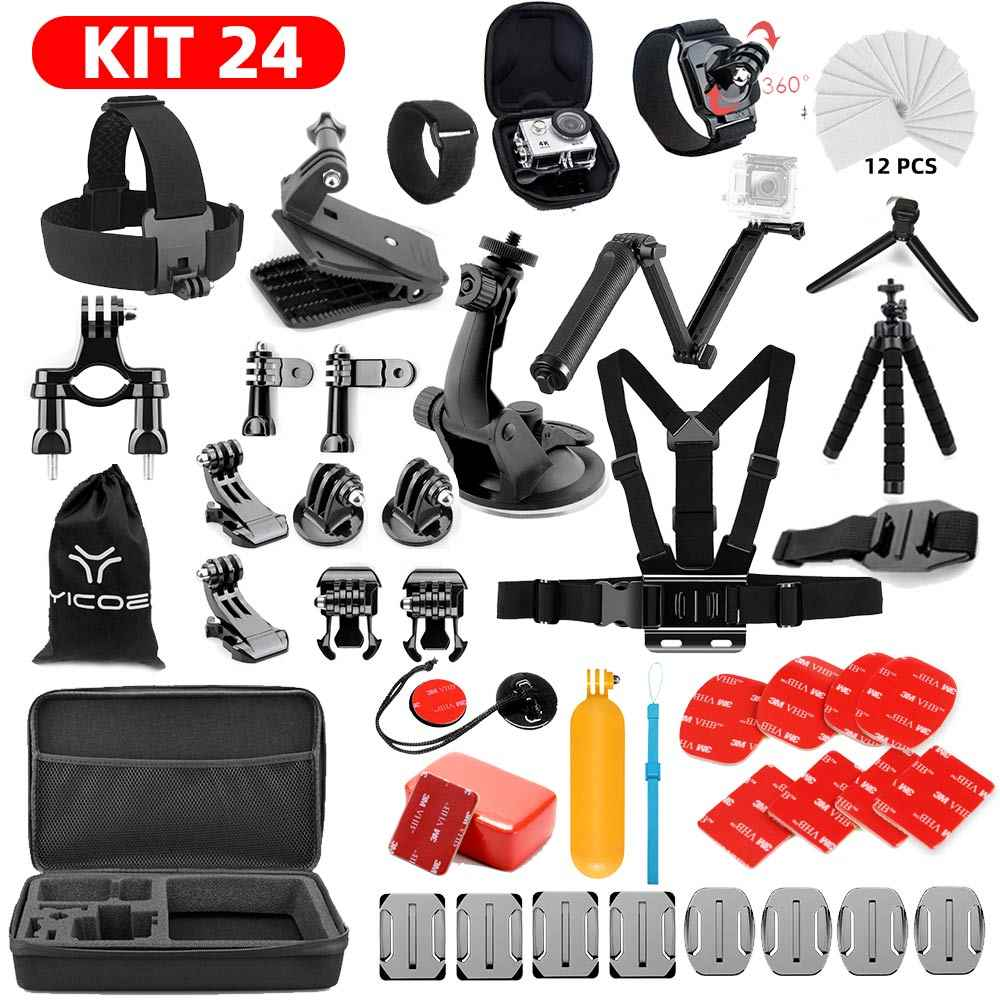For GoPro hero 7 6 5 4 Accessories Kit gopro 7 Session SJCAM Xiaomi Yi 4k mijia Action Sport Camera go pro accessories Mount
