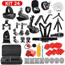 цена на For GoPro hero 7 6 5 4 3+ Action Sport Camera Go Pro Accessories Kit Chest Strap For SJCAM Xiaomi Yi 4k mijia Storage Bag Case