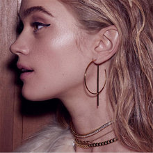 цены New fashion exaggerated Big Earrings for Women Circle Round Alloy Earrings Gold Silver Plated earrings gift for women