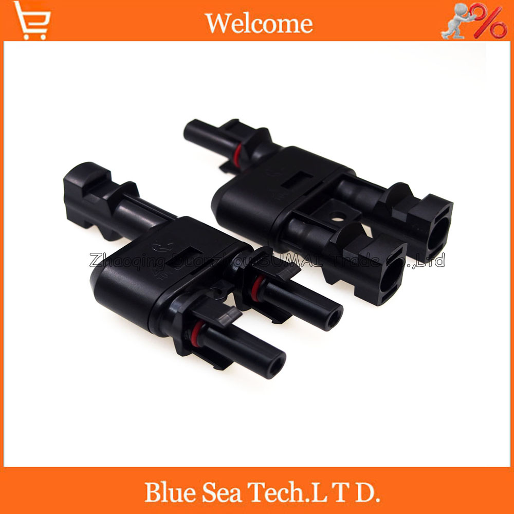 1 pair IP67 PV T type connector MC4 solar connector T Branch Connector male&female kit for solar panel 4.0mm2 Free shipping 1 pair ip67 pv t type connector mc4 solar connector t branch connector male