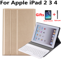 Slim Book Pattern Magnet Aluminum Wireless Bluetooth Keyboard Cover Case For Apple IPad 2 3 4