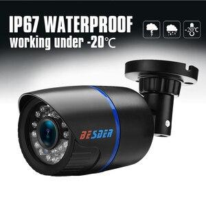 Image 4 - Besder ahd analógico de alta definição vigilância câmera infravermelha 720p ahd cctv câmera segurança câmeras bala ao ar livre