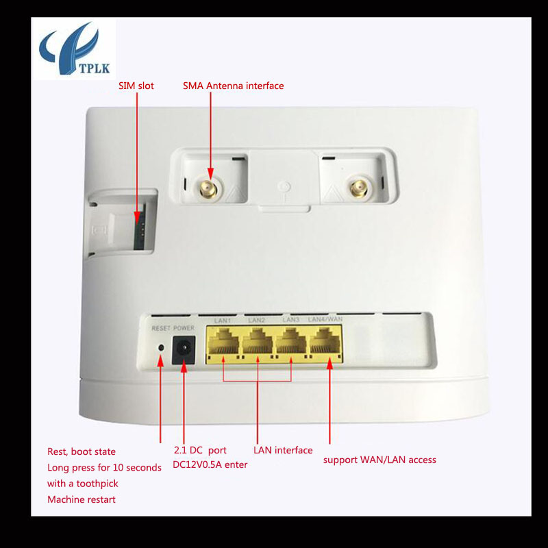 Original Hua Wei B315S-936 three network WIFI 4G LTE wireless broadband  router 4G outdoor CPE router 150mbps