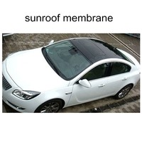 High Glossy Car Panoramic Sunroof Membrane Bubble Free Black Shining Car Sunroof Wrap Vinyl Film Free