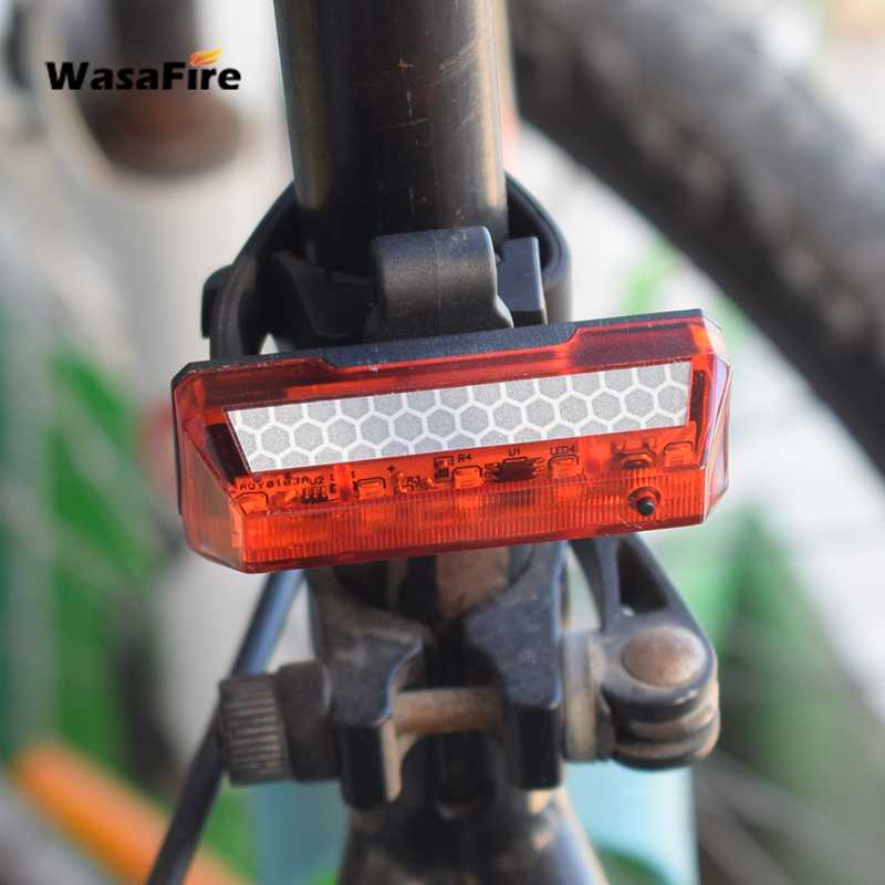 USB Rechargeable LED MTB Bike Bicycle Cycling Front Rear Tail Light Lamp Flash