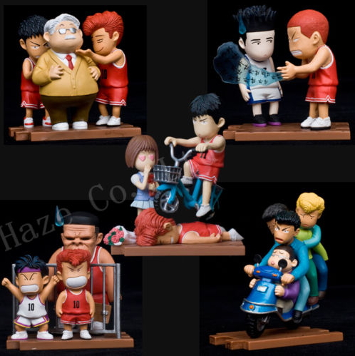 SLAM DUNK Basketball Player PVC Figure Toy 5pc image