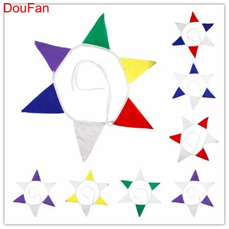 DouFan 1set Durable Cotton Cloth Pennant Flagga Banner Jul Halloween - Semester och fester