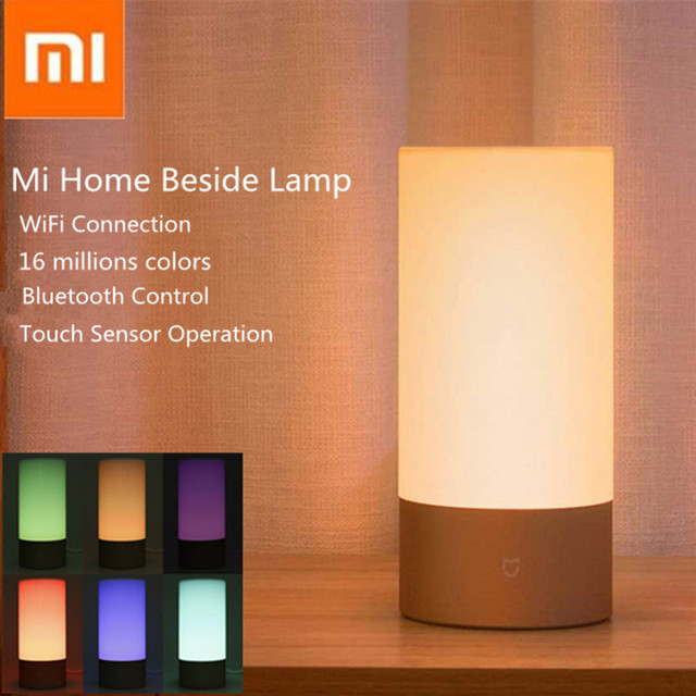 Xiaomi Mijia Bedside Lamp Night Light Osram Led Rgbw Touch Bluetooth Smart Remote Control Wifi Connection Update Version