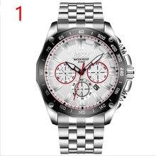 Для Мужчин Новая мода часы универсальное Нержавеющее в сдержанном стиле повседневное Роскошные бизнес Wristwatch.51