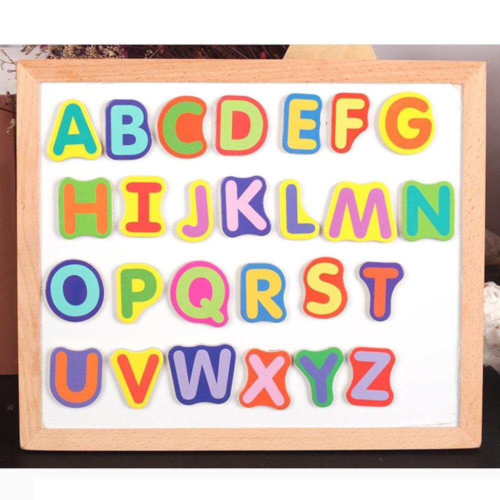 Creative magnétique dessin tableau d'écriture Sketchpad cadeau enfants Intelligence éducation jouet Puzzle Double chevalet enfant en bois jouet - 6
