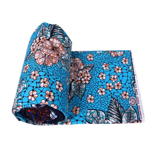 mylb New Polyester Wax Prints Fabric 2018 Ankara Super Hollandais Wax High Quality 6 yards African Fabric for Party Dress 3
