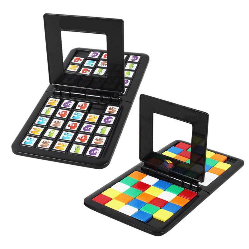 Magic Cube Race Game Parent-child Interaction Cube Desktop Puzzle Funny Educational Toys For Children Adults Gift  Puzzle Cube