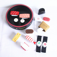 Children toys Japan simulation Sushi lunch box wooden toys for children food toys Set kitchen toy for children educational gift