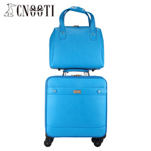 Business casual trolley picture box travel bag solid color brief version of fashion picture package,blue fashion luggage set