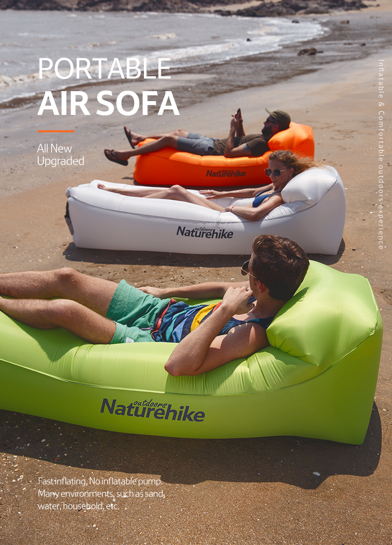 Ideal Inflatable Couch for Pool and Beach Parties Naturehike Inflatable Lounger Perfect Air Chair for Picnics or Festivals Best Air Lounger for Travelling Hiking Camping