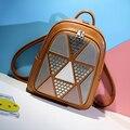 Women Backpacks PU Leather Riveting Casual Bags Classical Teenagers Fashion Travel Rivet Back Pack Bag