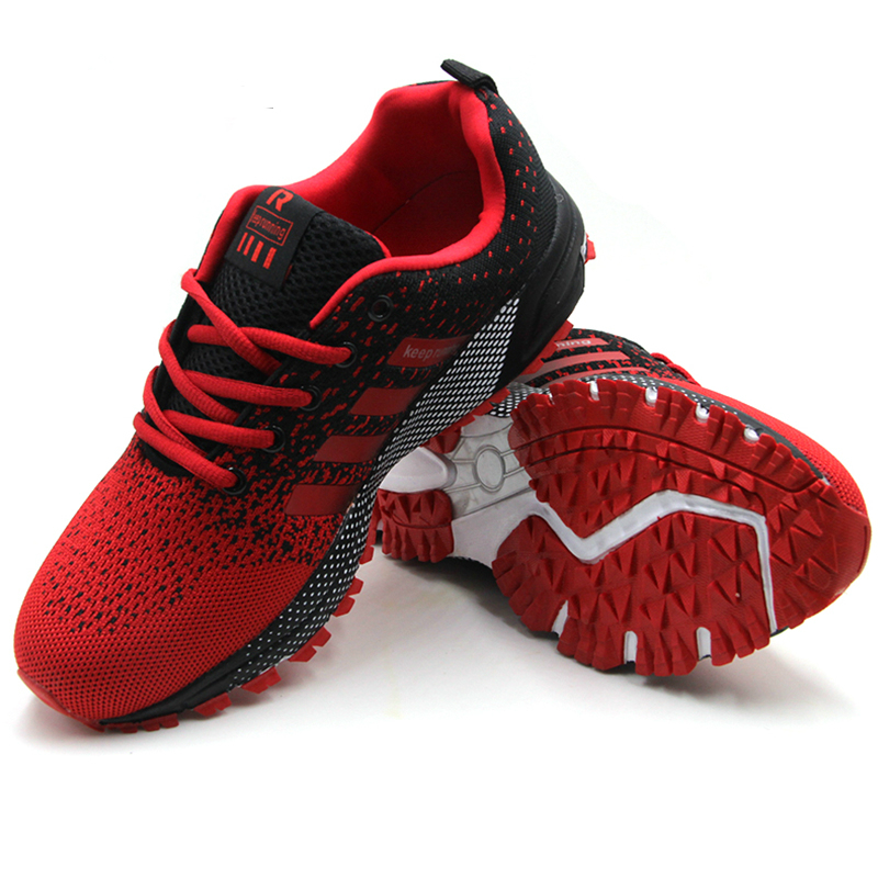 Cheap Men Sports Sneakers Shoes 2020 Breathable Men's Running Shoes Red Lightweight Sneakers Woman Comfortable Athletic Footwear