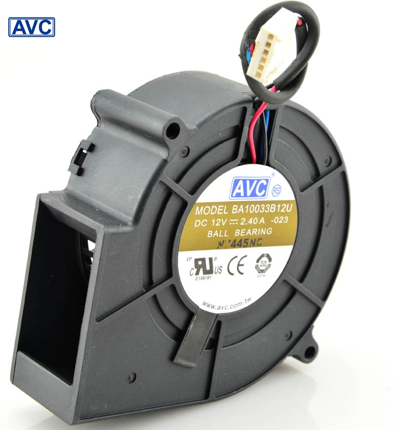 AVC orginal   BA10033B12U 9CM 9733 97*94*33 DC 12V 2.4A centrifugal computer cpu cooling fans air blowers